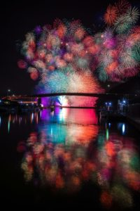 燈籠祭の花火